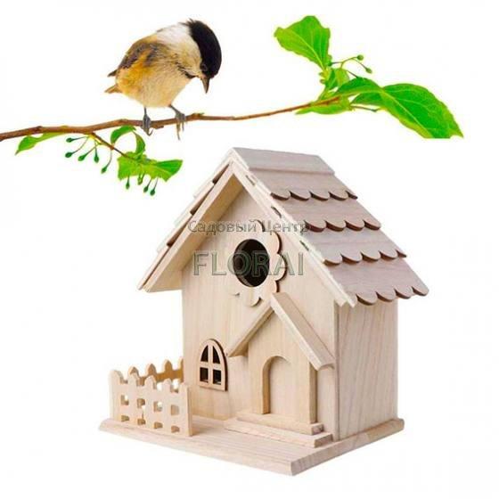 """Домик для птиц  """"Домик c забором"""""""