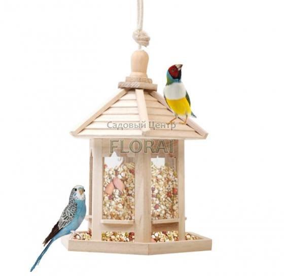 Кормушка для птиц Деревянная с крышей