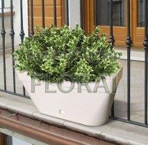 Вазон (балконный ящик) Luna bianco + Поддон. Выбор размера