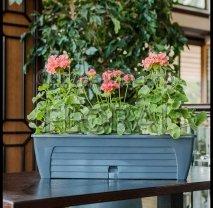 Ящик балконный с системой автополива прямоугольный Lido 60 см антрацит
