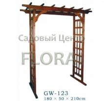Арка садовая деревянная GW-123, 1800х500х2100 мм