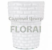 Кашпо стекло OS15 Cegla d13,5 белое