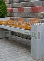 Скамья Direct бетон + дерево