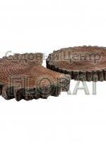 Плитка садовая Sezione полумесяц graphit+terra