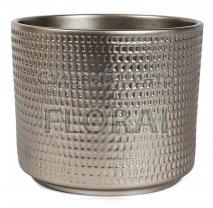 Керамическое кашпо Цилиндр Calla 991, d16 шампань