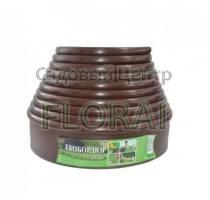 Лента бордюрная коричневая Екобордюр Оптимальный 103ммх10м