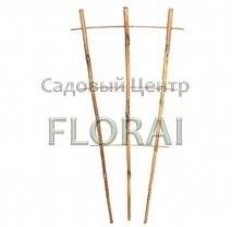 Бамбуковая лесенка для растений 3 опоры, высота 2,1 м. Выбор диаметра