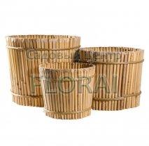 Вазон бамбуковый круглый, BRP-001. Выбор размеров