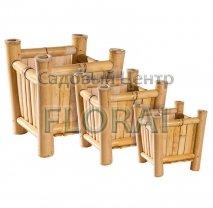 Вазон бамбуковый квадратный, BS403. Выбор размеров