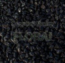 Галька чёрная базальтовая, фр. 15-25