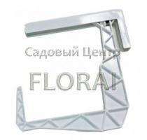 Крюк для балконных ящиков белый