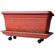 Вазон Maxi Flower-box MD Terra (50-110 л) + Поддон. Выбор размера