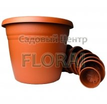 Вазон Pegaso P14 (1,5-105 л) terracotte без поддона. Выбор размера