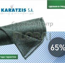 Притеняющая сетка 65% в рулоне, зеленая. Выбор размера